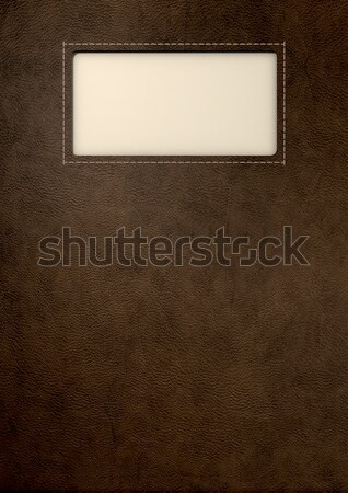 Brown Leather With Inlaid Label Stock photo © albund