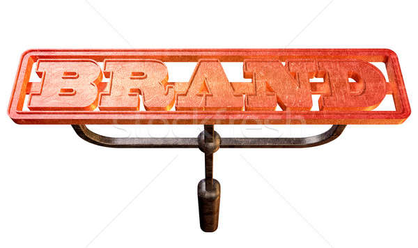 Metal Branding Brand Glowing Red Hot Front Stock photo © albund