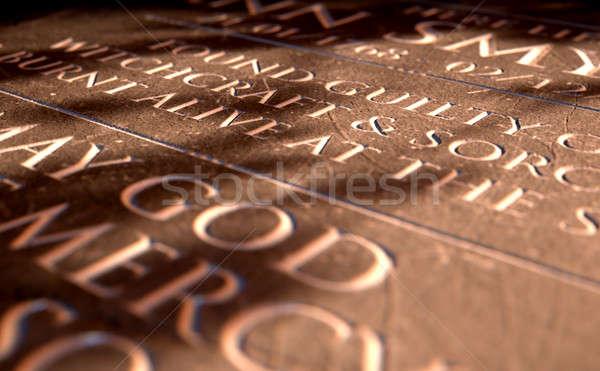 Grafsteen heks 3d render grafsteen dood Stockfoto © albund