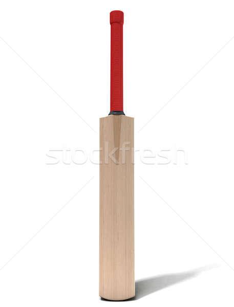 Kriket bat genel ahşap yalıtılmış beyaz Stok fotoğraf © albund