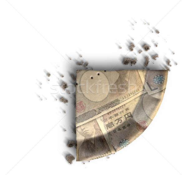 Fetta japanese yen soldi torta top Foto d'archivio © albund