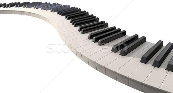 Curvy Piano Keys Stock photo © albund