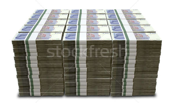 British Pound Sterling Notes Bundles Stack Stock photo © albund