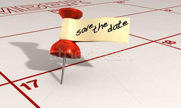 Save The Date Thumbtack Stock photo © albund