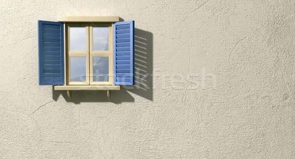 ウィンドウ 青 フロント 木製 ストックフォト © albund