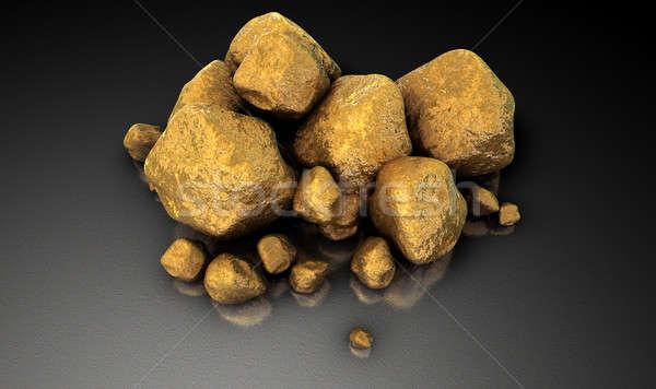Gold Nugget Collection Stock photo © albund