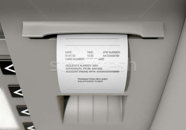 ATM Slip Declined Receipt Stock photo © albund