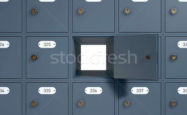 Bureau de poste cases rendu 3d banque mail une Photo stock © albund