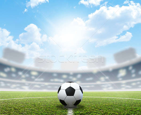 Stadium Soccer Pitch And Ball Stock photo © albund