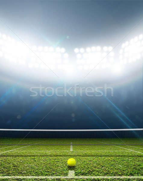 Stadium And Tennis Court Stock photo © albund