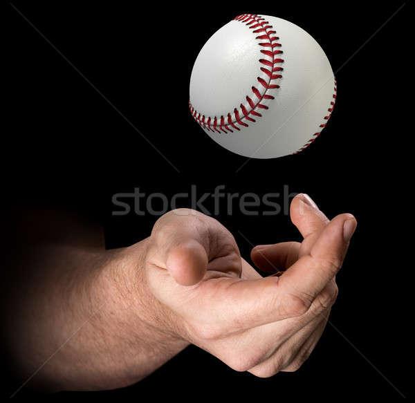 Hand Tossing Baseball Stock photo © albund