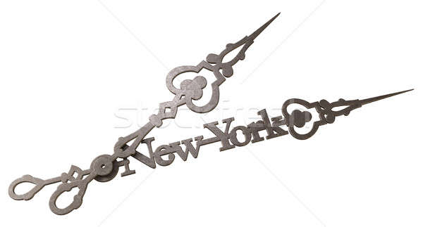 New York Minute Clock Hands Isolated Stock photo © albund