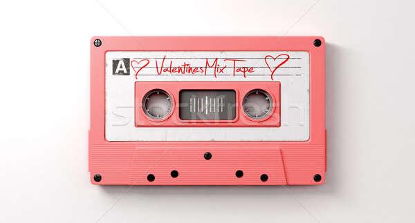 Pink Cassette Mix Tape Stock photo © albund