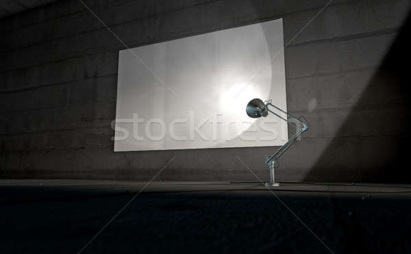Vintage Lamp Illuminating wall Stock photo © albund