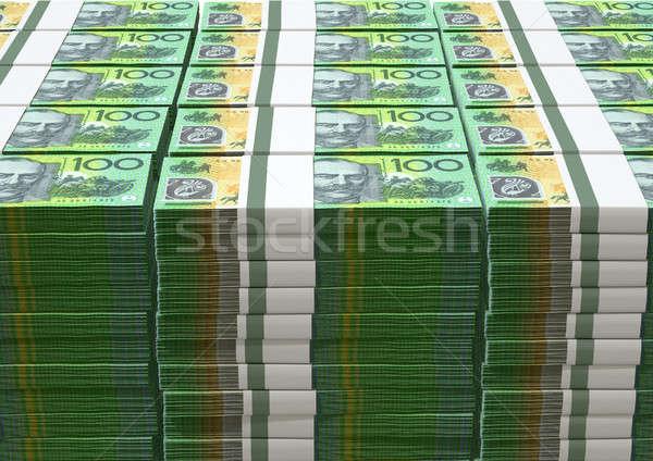 Foto stock: Australiano · dólar · notas · notas · isolado
