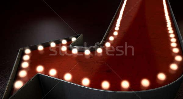 Vintage czerwony era świetle odizolowany Zdjęcia stock © albund