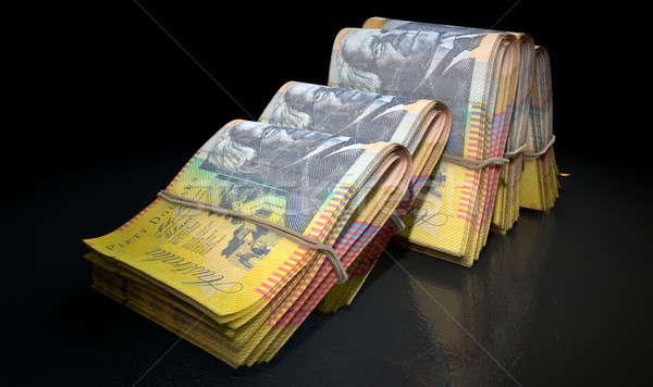 Wads Of Notes Pile Dark Stock photo © albund