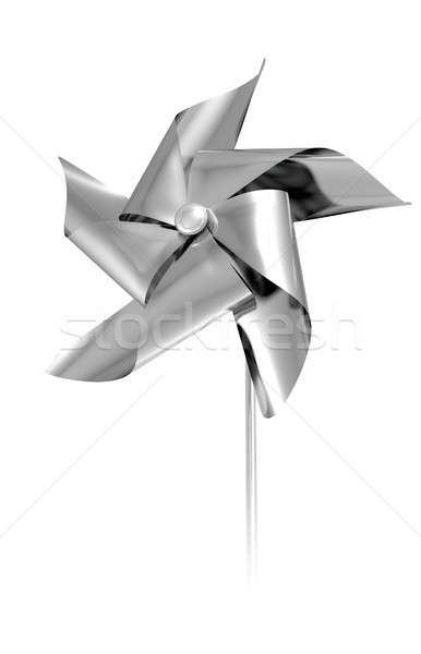 Silver Pinwheel Stock photo © albund