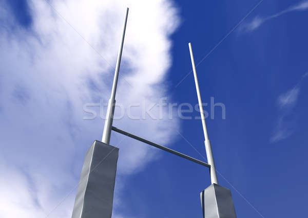 Rugby Posts Perspective Stock photo © albund