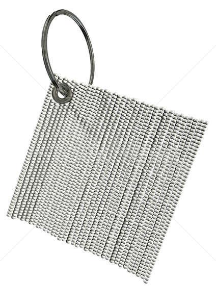 üveggyöngy kulcstartó általános fehér tér fém Stock fotó © albund