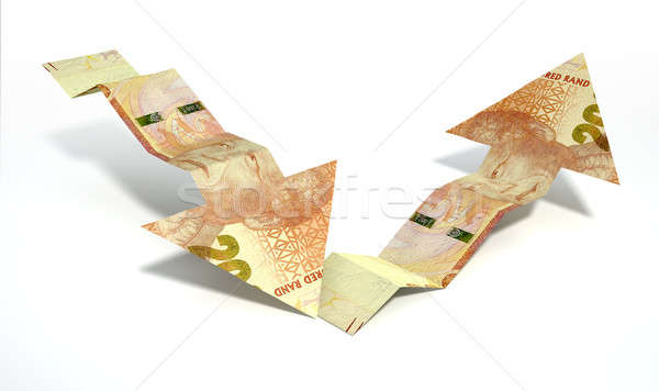 Rand Bank Note Recovery Trend Arrows Stock photo © albund