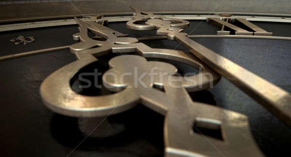 Stock photo: Antique Clock Macro