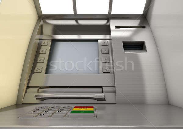 Сток-фото: атм · фасад · мнение · общий · деньги