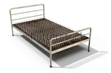 Yatak çivi yalıtılmış mecaz Metal Stok fotoğraf © albund