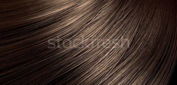 Brown Hair Blowing Closeup Stock photo © albund