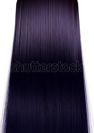 茶色の髪 パーフェクト ストレート 対称の 表示 ストックフォト © albund