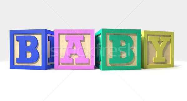 Baby blokken collectie vier regelmatig Stockfoto © albund