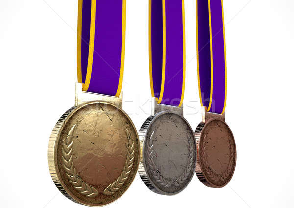 Stock photo: First Second And Third Medals