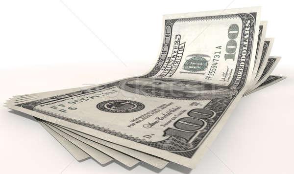 US Dollar Bank Notes Spread Stock photo © albund