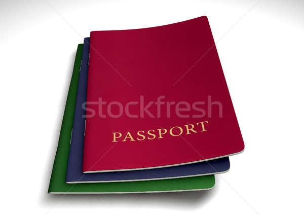 Générique passeport isolé blanche studio Photo stock © albund