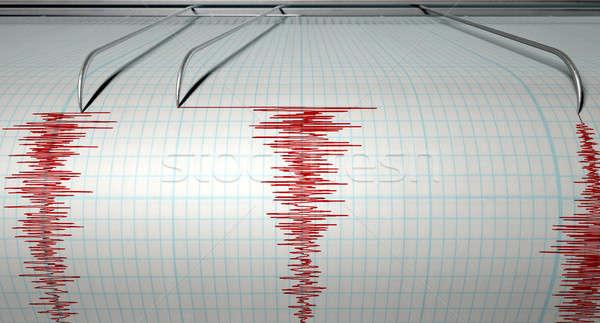 Terremoto atividade máquina agulha desenho Foto stock © albund