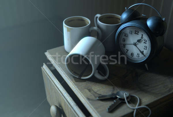 Bedside Table Insomnia Scene Stock photo © albund