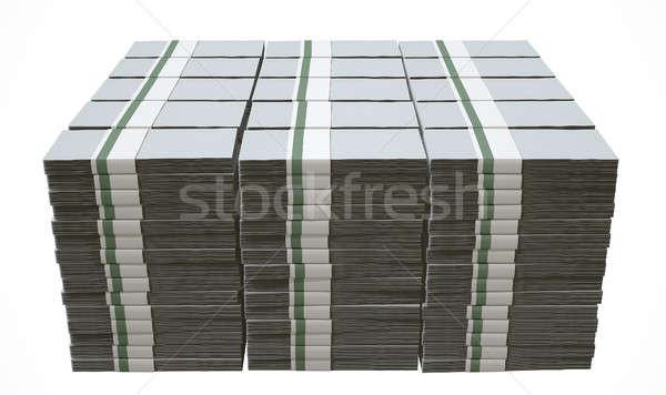 Pile Generic Blank Bank Notes Stock photo © albund