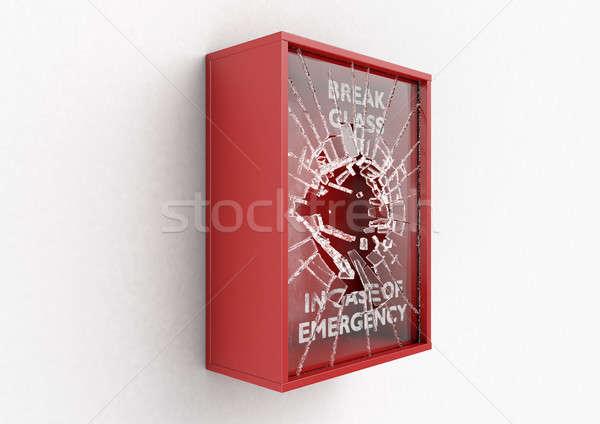 Break In Case Of Emergency Red Box Stock photo © albund