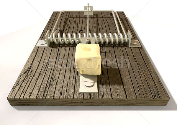 Mousetrap With Cheese Front Stock photo © albund