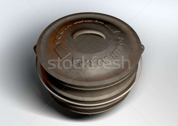 South African Potjie Pot Top Stock photo © albund