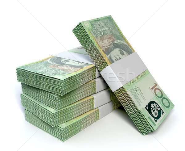 Australian One Hundred Dollar Notes Bundles Stock photo © albund