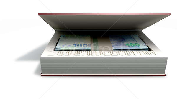 Stock photo: Concealed Rands In A Book Front