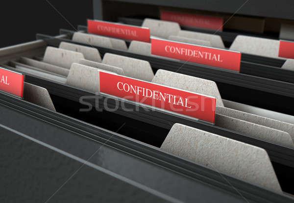 Gaveta abrir confidencial 3d render Foto stock © albund