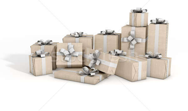 Scattered Gift Box Pile Stock photo © albund