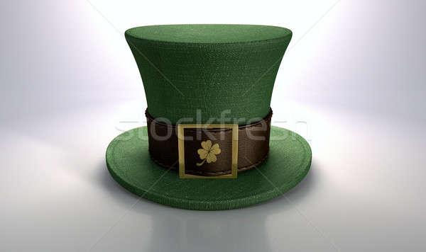 Green Leprechaun Shamrock Hat Stock photo © albund