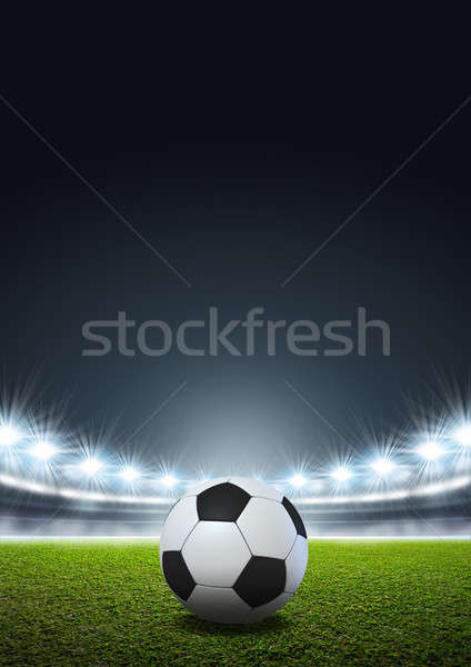 Generic Floodlit Stadium Soccer Ball Stock photo © albund
