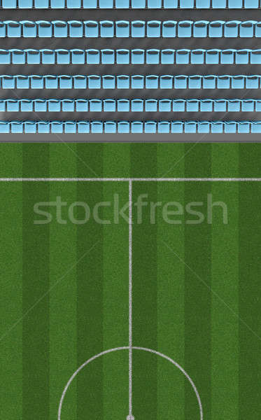 Soccer Stadium Top View Section Stock photo © albund
