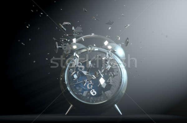 Table Clock Time Smashing Out Stock photo © albund