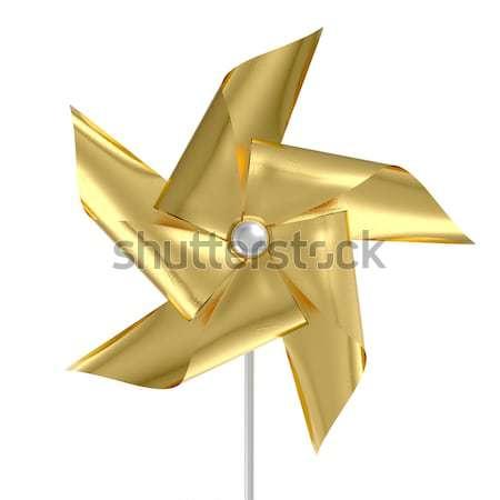 Gold Pinwheel Stock photo © albund