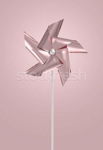 Rose Gold Pinwheel Stock photo © albund